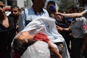 ガザ地区空爆の果て