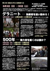 第43回「500年─独裁者を裁くのは誰か?」「グラニート」20180509決定稿ウラ